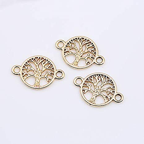 20Pcs Rose Wrap Cross Pendant Vintage Silver Charms Locket DIY Jewelry Craft