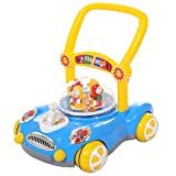 Ybriefbag-Toys Baby Three-in-one Activity Walker Bao Walker Cart Music Rollover Child Walker (Color : Blue, Size : 40.643.443CM)
