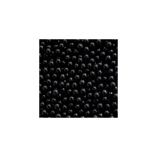 (O'Creme Black Edible Sugar Pearls Cake Decorating Supplies for Bakers: Cookie, Cupcake & Icing Toppings, Beads Sprinkles For Baking, Kosher Certified, Candy Sugar Ball Accents (8mm, 8Oz))