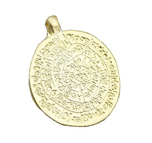 Golden Horn Jewelry Supplies 24K Matt Gold Egypt Coin Pendant, Gold Coin Charms, Medallion Pendant, Coins, Ancient Pendants, Gold Coins - Modern Gold Plated Setting Pendants