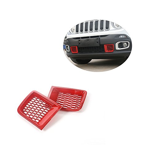 JCSPORTLINE Front Bumper Grill Air Intake Vent Cover Trim for Jeep Renegade 1.4T (Intake Trim)