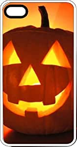 Glowing Halloween Jack O Lantern Clear Plastic Case for Apple iPhone 4 or iPhone 4s
