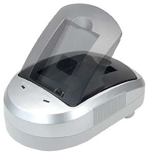 Blumax 300133 - Cargador para baterías JVC BN-VF808, 815, 823 y AA-VF8 (alimentador de corriente de 12 V, adaptador de coche de 12 V y estación de carga)