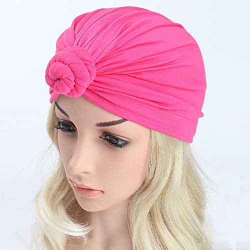 Outtop(TM) Baby&Mom&Dad Headband Newborn Girls Boys Knotted India Hat Cotton Sleep Cap Headwear Hat (Hot Pink -Mom) by Outtop(TM) (Image #1)