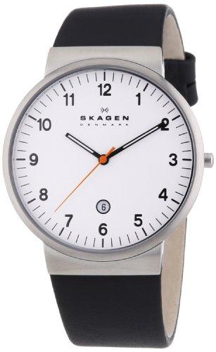 Skagen Herren-Armbanduhr Analog Quarz Leder SKW6024