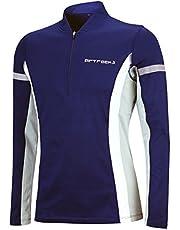 Airtracks Thermo-functioneel hardloopshirt met lange mouwen voor dames of heren, functioneel thermo-shirt, sweatshirt, fleece, running T-shirt, warm, ademend, reflectoren