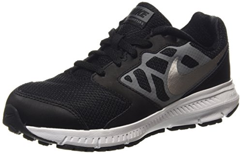 Nike Downshifter 6 (GS/PS) - Zapatillas para niña Negro (Black / Mtllc Slvr-Cl Gry-White)