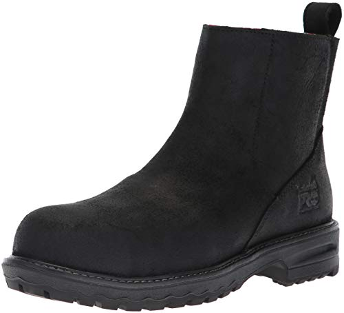 (Timberland PRO Women's Hightower Chelsea Composite Toe SD+ Industrial Boot, Black Distressed Leather, 9 M US)