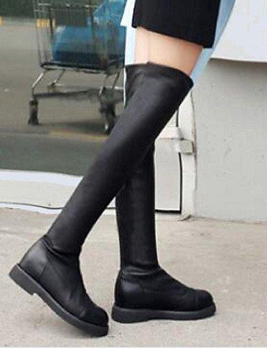 Black Tacón Botas 5 Xzz Cuña Eu39 Cerrada Uk6 Punta Sintético Cn40 Casual Zapatos Negro 5 Mujer us8 De CwwRPtq
