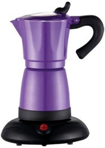 SYSWJ Cafetera Electric Moka Coffee Pot/Mocha Coffee Pot With And Perfect Gift For Everyone,Purple: Amazon.es: Hogar