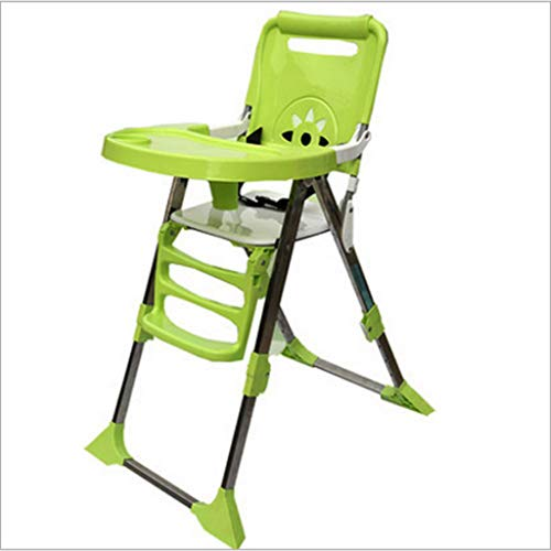 Booster Seats Baby Dining Chair Children's Dining Chair Baby dinette Retractable Children's Stool Baby Booster Chair Multifunctional Baby Dining Table (Color : Green, Size : 68cm48.5cm102cm)