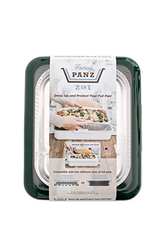 Big Party Store (Fancy Panz 2-in-1 USA-Made Portable Casserole Carrier for Shallow and Deep Half Size Foil Steam Pans, Foil Pan and Serving Spoon Included (Winter)