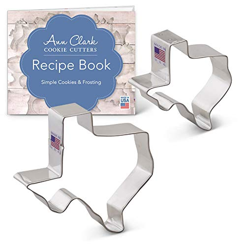 State of Texas Cookie Cutter Set - 2 piece - Large and Regular - Ann Clark - USA Made Steel
