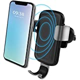 QI Wireless Car Charger Mount Air Vent Phone Holder by olagoya Auto-clamping Fast Charging Holder for iPhone X/8/8 Plus Samsung Galaxy S9/S9 Plus/ S8/S8 Plus Note 8 and Other QI-Enabled Devices