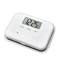 U-Trak Pill Box Alarm Pill Organizer Mini Portable Daily Pill Case with Digital Alarm Clock Reminder for Pills/Vitamin/Supplements Travel Outdoor 6 Compartments Black
