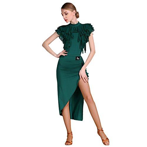 Con americani jiu Balli Completi Gonna Latino Naturale Viscosa l Calzamaglia Prestazioni Q pigiama Donna green Tulle Per Balze Intero Htvwxx