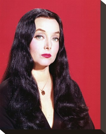 Carolyn Jones as Morticia Addams Print on Canvas