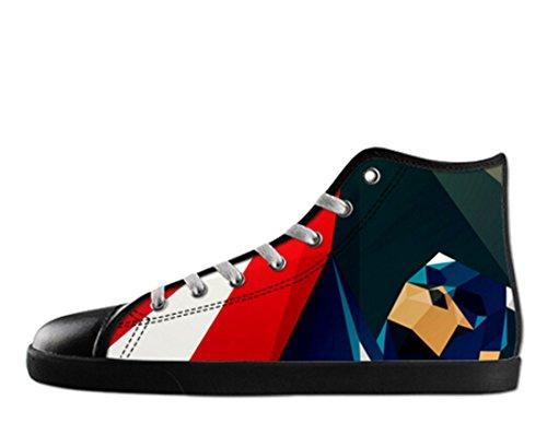 Heren Canvas Hoge Schoenen Captain America Thema Kapitein Canvas Shoes11