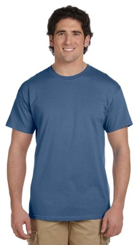 Gildan mens Ultra Cotton 6 oz. T-Shirt(G200)-HEATHER INDIGO-5XL