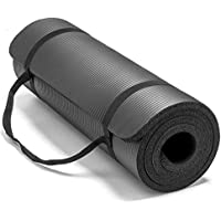Dorsa Non-Slip yoga mat 10mm thick NBR Gym home mat exercise mat sport mat-183 * 61cm-Black