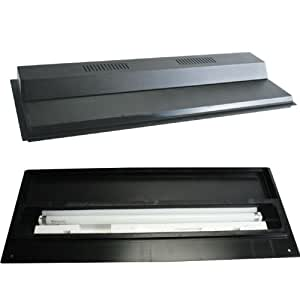 Perfecto Manufacturing Recessed Full Fluorescent Light Hood Black 30 Inch X 12 Inch
