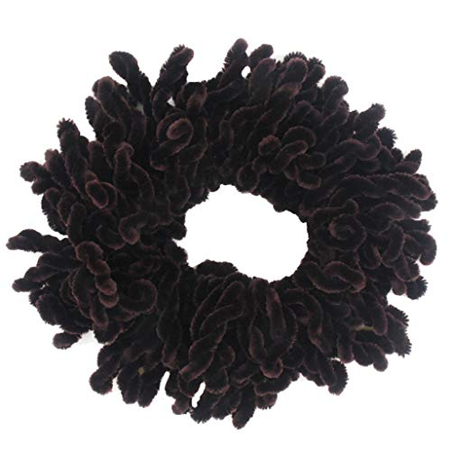 - UROSA Flexible Rubber Band Simple Hijab Volumizing Scrunchie Large Hair Bow Headwear Headwear Brown