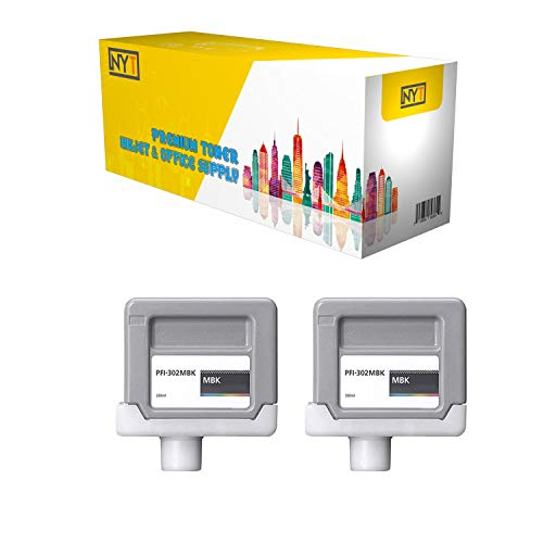 - NYT New Compatible 2 Pack PFI-302MBK Ink Cartridge for Canon ImagePROGRAF iPF8100 9100 - Matte Black