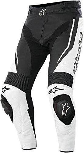 Alpinestars Track Men's Sports Bike Motorcycle Pants - White/Black, 54