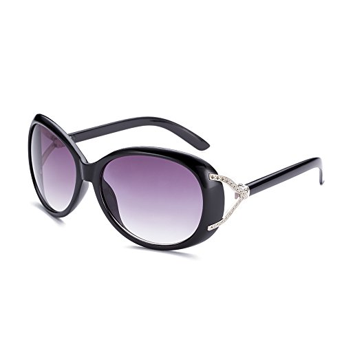 Naivo Women's YJMH104-1 Polarized Retro 1960's Sunglasses, Black Tone, - 1960 Sunglasses