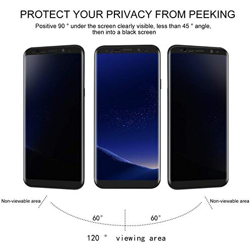 MOZEEDA Compatible Privacy Screen Protector Tempered Glass Protective Film for Samsung Galaxy Note 9 (2PCS/Pack)