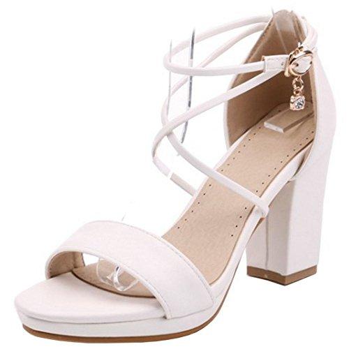 Sweet Donna Sandali Scarpe Zanpa White a8qpf550w