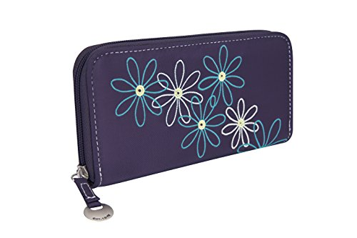 Travelon Safe Id Daisy Ladies Wallet, Purple Ladies Daisy