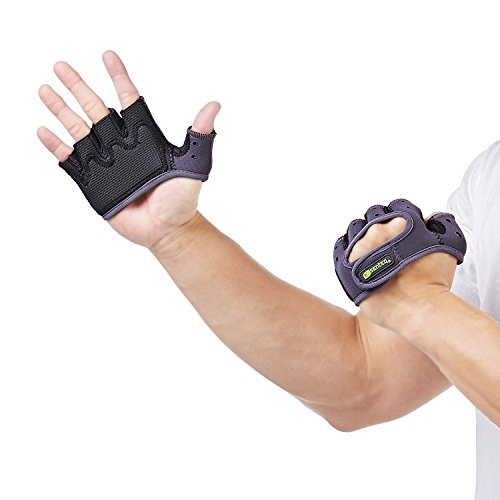 SENTEQ Workout Lifting Crossfit Gloves - Anti-Slip Thick Padded Grips Provide Comfort and Protection Against Blisters and Calluses. Excellent for Exercise, Weightlifting, Biking, Kayaking. (SQ2 H045)