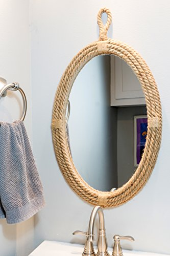 Stonebriar Decorative Oval Rope Mirror with Hanging Loop, Unique Wall Décor by Stonebriar (Image #3)