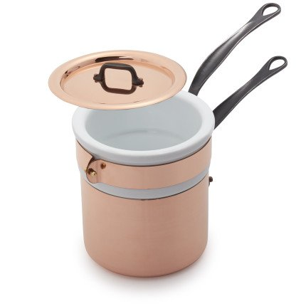 Mauviel Jacques Pepin Copper Bain Marie, 1.6 (Copper Bain Marie)