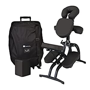 EARTHLITE Avila II Portable Massage Chair Package - Folding Tattoo Spa Massage Chair incl. Carry Case with wheels