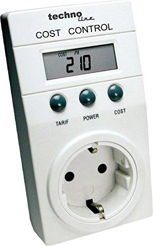Technoline Cost Control - Medidor del Consumo Energé tico, Color Blanco, Importado de Alemania