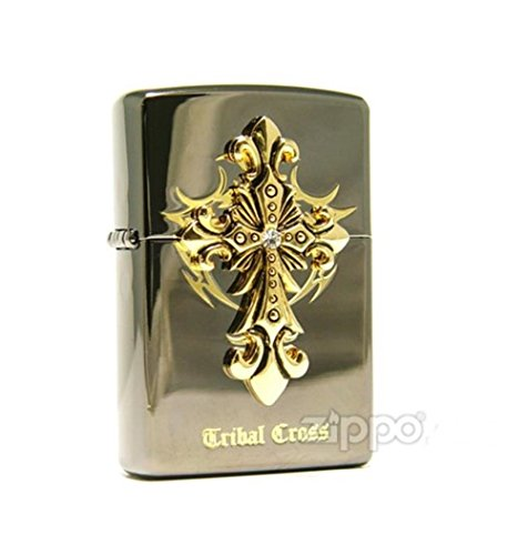 Zippo Tribal Cross Black Ice Lighter Made in USA /GENUINE and ORIGINAL PackingZippo Tribal Cross Black Ice Lighter Made in USA /GENUINE and ORIGINAL Packing ()