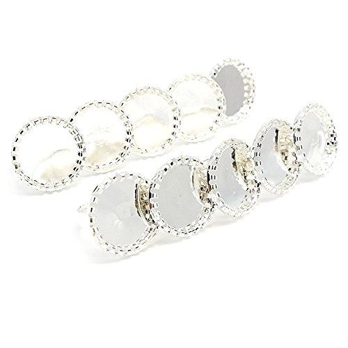 Femitu Beautiful Bead 10 Pcs Silver Gear Wheel Shape Ring Base for Ring DIY 20mm