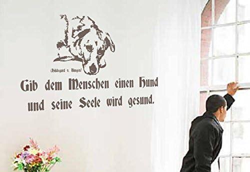 Adhesivo decorativo para pared con texto - encima de la gente de un perro y su alma