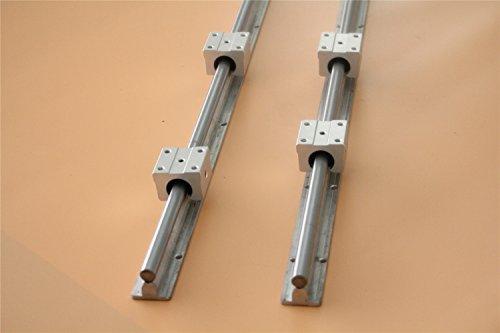 CHUANGNENG 2Pcs SBR16 1200mm Fully Supported Linear Rail+4x SBR16UU 16mm Slide Block Bearing US STOCK