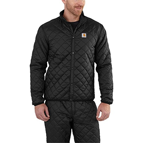 Carhartt Men's 102316 Yukon Quilted Base Layer Top - Small Regular - Black ()