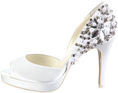 Mujer Tela Para Menbur Talo Marfil Zapatos Novia De 04204 HwU0UX4P