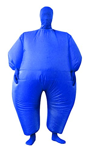 RoseSummer Adult Inflatable Full Body Jumpsuit Cosplay Costume Halloween Funny Fancy Dress Blow Up Party Toy (blue)