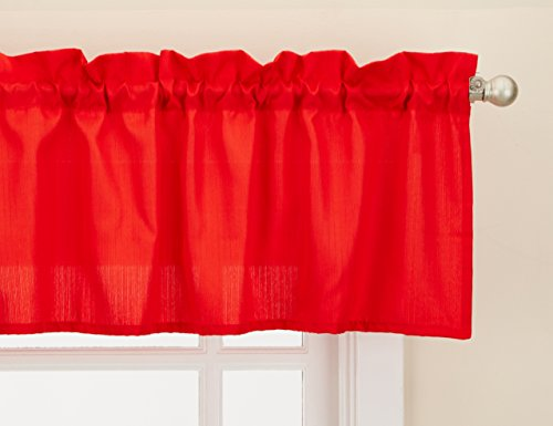 LORRAINE HOME FASHIONS Ribcord Window Curtain Tailored Valance, 54