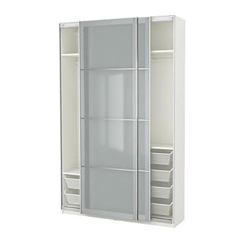 Ikea Armario, Blanco, Cristal Esmerilado Sekken 10386.8268 ...