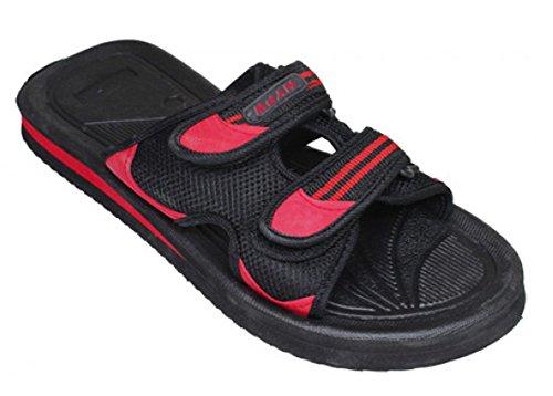 Lichtgewicht Instapper Heren Sandalen In Sportstijl, Zwart