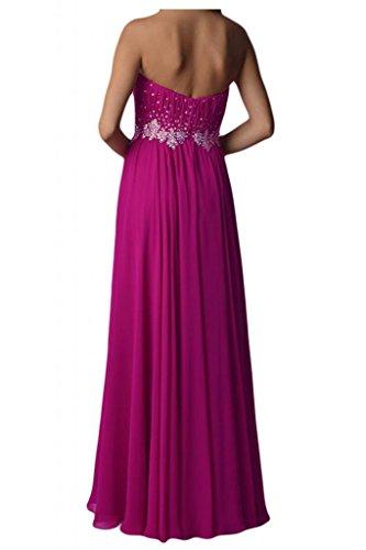 Toscana sposa amabile a forma di cuore e stelle Chiffon stanotte vestimento lunga un'ampia Party ball vestimento viola 34
