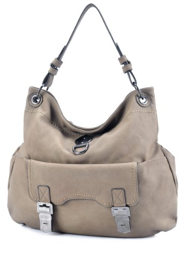 MDQ00403 Deyce 'Lucy' Quality PU Close-Out High Quality Women/Girl Fashion Designer Work School Office Lady Student Handbag Shoulder Bag Purse Totes Satchel Clutches Hobos (D. Brown), Bags Central