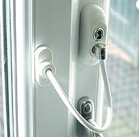 Cierre de Seguridad para Puertas y Ventanas Paquete de Tres Color:Blanco UAP Max6mum Security Restrictor para Seguridad Infantil